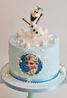 Frozen birthday cake, Olaf, Elsa