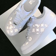 shoes sneakers nike Reflective LV Louis Vuitton Air Force , Krispy Made Louis Vuitton Shoes Sneakers, Lv Shoes, Hype Shoes, Shoes Style, Shoes Jordans, Shoes Heels, Air Jordans, Shoes Uk, Vans Shoes