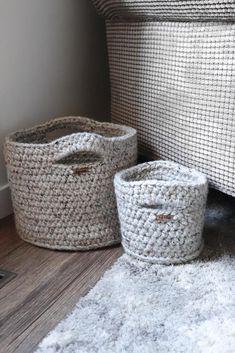 The Livingston Basket – The Perfect, Sturdy, Seamless, Crochet Basket Pattern Knitting ProjectsKnitting FashionCrochet ProjectsCrochet Stitches Crochet Basket Pattern, Knit Basket, Basket Weaving, Crochet Baskets, Crochet Basket Tutorial, Woven Baskets, Picnic Baskets, Crochet Instructions, Chunky Crochet