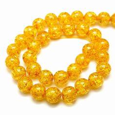 5 Perles en résine imitation ambre bouddhiste Rondes 6mm PR201601 : Perles pierres Fines, Minérales par creatist
