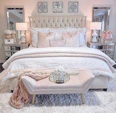 Glam Bedroom, Room Design Bedroom, Girl Bedroom Designs, Stylish Bedroom, Diy Bedroom, Girls Bedroom, Master Bedroom, Cute Bedroom Ideas, Room Ideas Bedroom