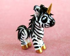 Zoe the Zebracorn  Made to Order by DragonsAndBeasties on Etsy, $32.00