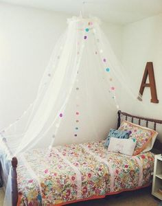 DIY Girls Room : Canopy Bed. Every Girl Needs One