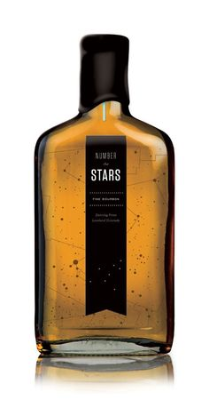 """number the stars"" bourbon packaging for dancing pines distillery {beauty in a bottle}"