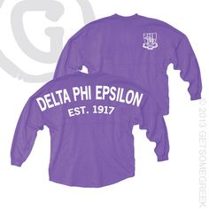DELTA PHI EPSILON COASTAL JERSEY from sorority sugar sponsor ~ get some greek! <3 Getting these soon :)