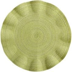 Flutter Placemat - Citron Green 15' diameter