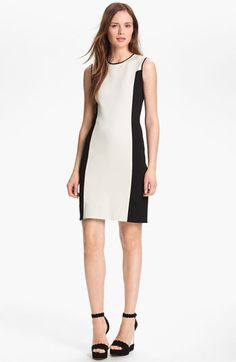 Halston Heritage Colorblock Ponte Knit Dress available at #Nordstrom $325