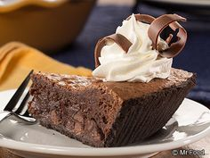 """This Mississippi Mud Pie is so gooey, rich, and fudgy, we understand why David Venable said, """"Dessert just doesn't get any better!"""" One slice into this brownie in a pie plate, and we bet you'll feel the same!"""