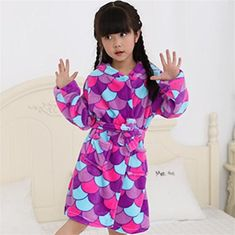 Toys & Hobbies Capable Child Bathrobe Boys And Girls Baby Cotton Hooded Nightgown Winter Towel Fleece Cartoon Cap Bath Spa Robes Christmas Grey Autumn