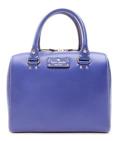 Love this Holiday Blue Wellesley Alessa Leather Boston Bag by Kate Spade on #zulily! #zulilyfinds