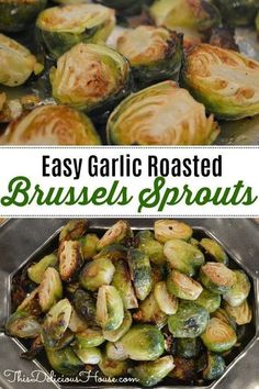 Easy Roasted Brussels Sprouts with Garlic and Red Chili Pepper. Baked and roasted on foil in the oven, this healthy recipe side dish will make you love Brussels sprouts. #easysidedish #roastedbrusselssprouts Baked Brussel Sprouts, Roasted Sprouts, Brussels Sprouts, Recipe For Grilled Brussel Sprouts, Healthy Brussel Sprout Recipes, Easy Pasta Recipes, Veggie Recipes, Easy Meals, Healthy Recipes
