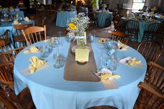 The table decor. The transformation of the barn was amazing.