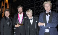 Duran Duran looking sharp as ever. (GQ MOTY Awards)
