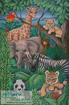 Animal Kingdom Counted Cross Stitch Pattern http://www.artecyshop.com/index.php?main_page=product_info&cPath=74_76&products_id=951