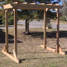 TMP Outdoor Furniture Large Cedar Pergola Arbor Swing Frame Could this be made long enough to give shade on front picture window and then have swing? (outdoor porch lights pergolas)
