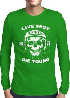 Live Fast - Die Young - 2 - Dhaporshankh Guys Longsleeves