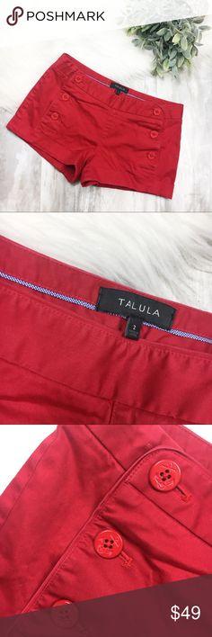 Talula Red Starboard Shorts EUC Shorts. Talula by Aritzia. Unique front 6 button closure. Aritzia Shorts