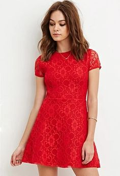 Floral Lace A-Line Dress | Forever 21 #thelatest
