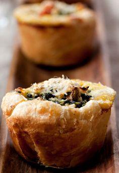 <3 Spinach, mushroom, and tomato quiche recipe