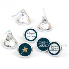 Star Baby Showers, Boy Baby Shower Themes, Baby Shower Fun, Lifesaver Candy, Star Theme Party, Candy Labels, Candy Favors, Hershey Kisses, Kisses Candy