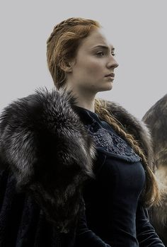 Sansa Stark in 6.09 'Battle of the Bastards.' REGAL AS FUCK.