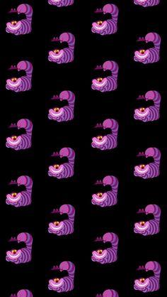 Cheshire Cat - Alice In Wonderland - Disney Wallpaper, Pattern Wallpaper, Wallpaper Backgrounds, Iphone Wallpaper, Cheshire Cat Wallpaper, We All Mad Here, Cheshire Cat Alice In Wonderland, Lilo Et Stitch, Chesire Cat