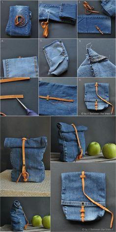 reciclar jeans bolso DIY muy ingenioso2