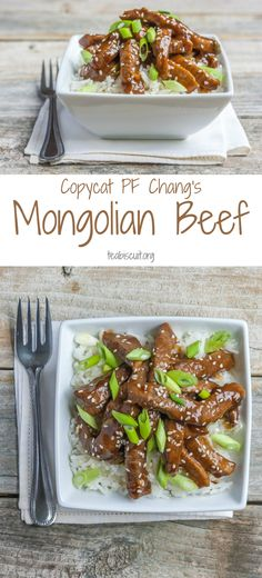 Better than PF Chang's Mongolian Beef Copycat recipe! | gluten free and dairy free | teabiscuit.org