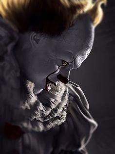 Pennywise 4 by AndromedaDualitas on DeviantArt Clown Pennywise, Pennywise Tattoo, Pennywise The Dancing Clown, Horror Icons, Horror Art, Scary Movies, Horror Movies, Bill Skarsgard Pennywise, Clown Horror
