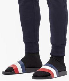Slide Sandals, Men Sandals, Slip On, Socks, Sneakers, Fashion, Over Knee Socks, Men, Sandals
