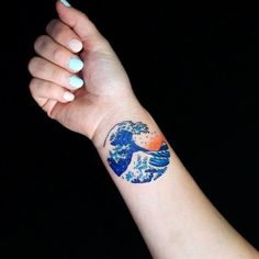 wave tattoo43