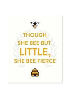 Seltzer Goods honey bee beekeeper print