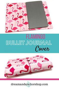 This pink flamingo bullet journal cover is the perfect planning accessory if you like to plan on the go! It's lightweight and will protect your bullet journal, planner, writing notebooks and more. It's available in 7 sizes and custom made just for you. Diy Notebook, Notebook Covers, Journal Covers, Handmade Notebook, Planner Dividers, Planner Ideas, Memory Journal, Bullet Journal Inspiration, Journal Ideas