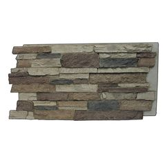 Superior Building Supplies Rustic Lodge 24-3/4 in. x 48-3/4 in. x 1-1/4 in. Faux Mountain Ledge Stone Panel