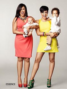 Tia Mowry-Hardict & Tamera Mowry-Housley with their sons on April cover of Essence. I love them!