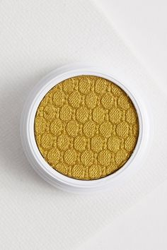 Kathleen Lights Telepathy metallic yellow eye shadow