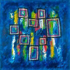 Abstract Colors III 100x100 cm 2.999 dkk - Art by Lønfeldt -  Art original abstract paintings