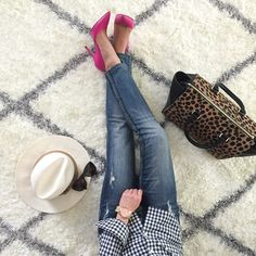 FWIS: gingham and leopard with pink