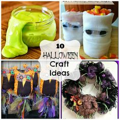 This is fun! 10 Halloween craft ideas