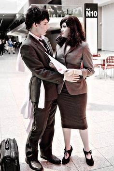 Paperman cosplay -  I only saw this once before, but it was so cute!