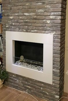 Sabbia brick slips for this stunning fireplace