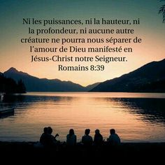 Promesse de Romains 8:39 : Rien ne peut te séparer (qui que tu sois) de l'amour que Dieu a pour toi ^^ ! ❤