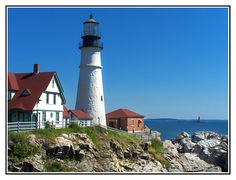 Portland Head, Maine  I painted a picture of this lighthouse in my very first studio class in college and I've wanted to go there ever since!