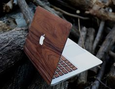 """"""" Real Rosewood Macbook Skin by Artsn Goods Give your MacBook a whole new look with the Real Rosewood MacBook Case. These has been made out of high quality real wood rosewood with a Macbook Air, Macbook Pro Apple, Macbook Pro Case, Macbook Pro Stickers, Laptop Case, Ipad Case, Coque Macbook, Danish Oil Finish, Iphone 5s Screen"""