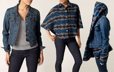 Levis Trucker Jacket lined with thigh-length hood wrap made of Pendleton Wool. WANT