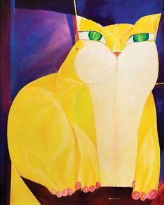 Yellow Cat - Aldemir Martins.