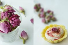 Raspberry, rose and almond tart by andrea ♥, via Flickr