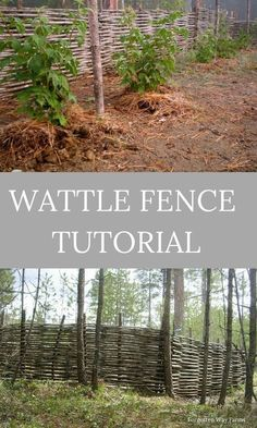 to Make Wattle Fencing Step by Step for Animal and Garden Fencing How to make wattle fencing step by step. Here is our DIY guide.How to make wattle fencing step by step. Here is our DIY guide. Cerca Natural, Wattle Fence, Natural Fence, Wie Macht Man, Olive Garden, Fence Landscaping, Unique Gardens, Garden Structures, Interior Exterior