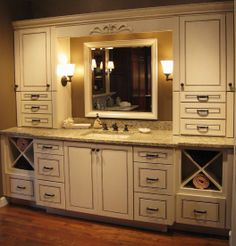 Bathroom Vanities Kraftmaid think i like this hamper option best for in the cabinets because