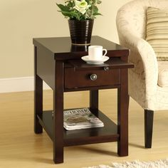 Side Table Tray dimensions: Inner drawer dimensions: x x Corner Table, Lowes Home Improvements, End Tables, Home Furnishings, Flooring, Living Room, Table Tray, Furniture, Drawer